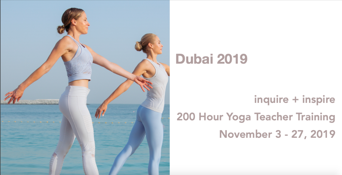 Erica Blitz Dubai 200hr Yoga Teacher Training 2019